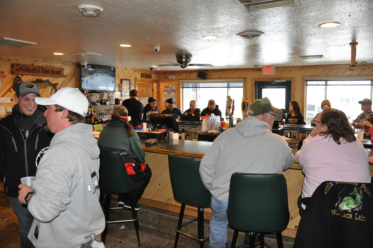 Hunters Point Bar on Mille Lacs Lake