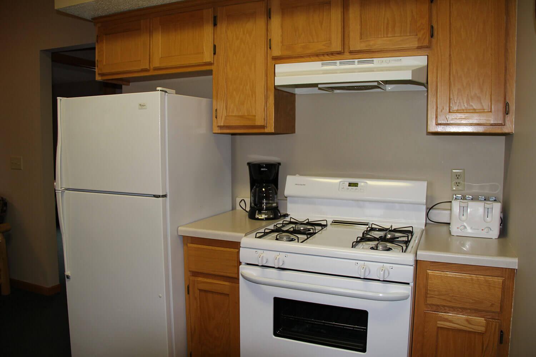 Cabin kitchen on Mille Lacs Lake