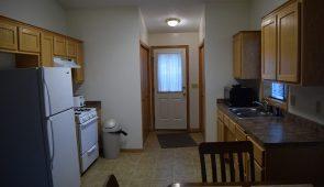 Cabin 7 kitchen on Mille Lacs Lake