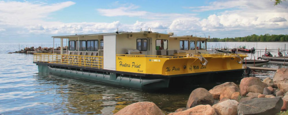 Book Private Charter Boat Launches on Mille Lacs Lake at Nitti's Hunters Point Resort