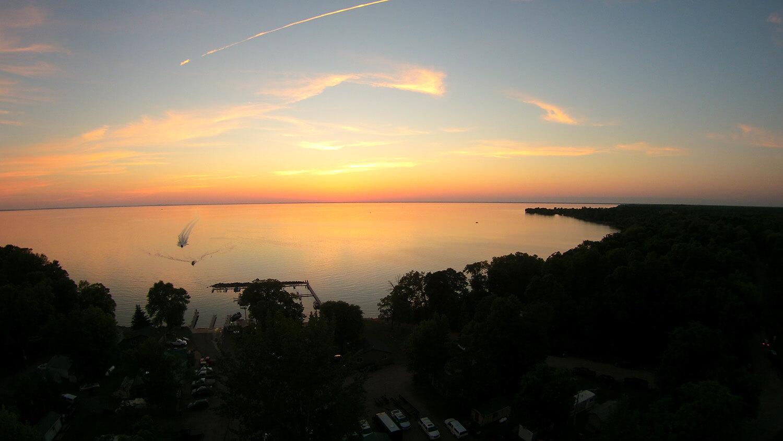 drone summer sunset 1