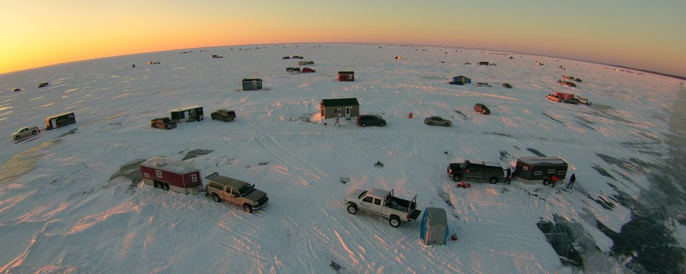 Ice Fishing on Mille Lacs Lake at Nitti's Hunters Point Resort