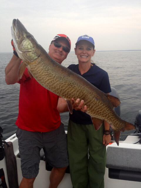 Muskie fishing on Lake Mille Lacs