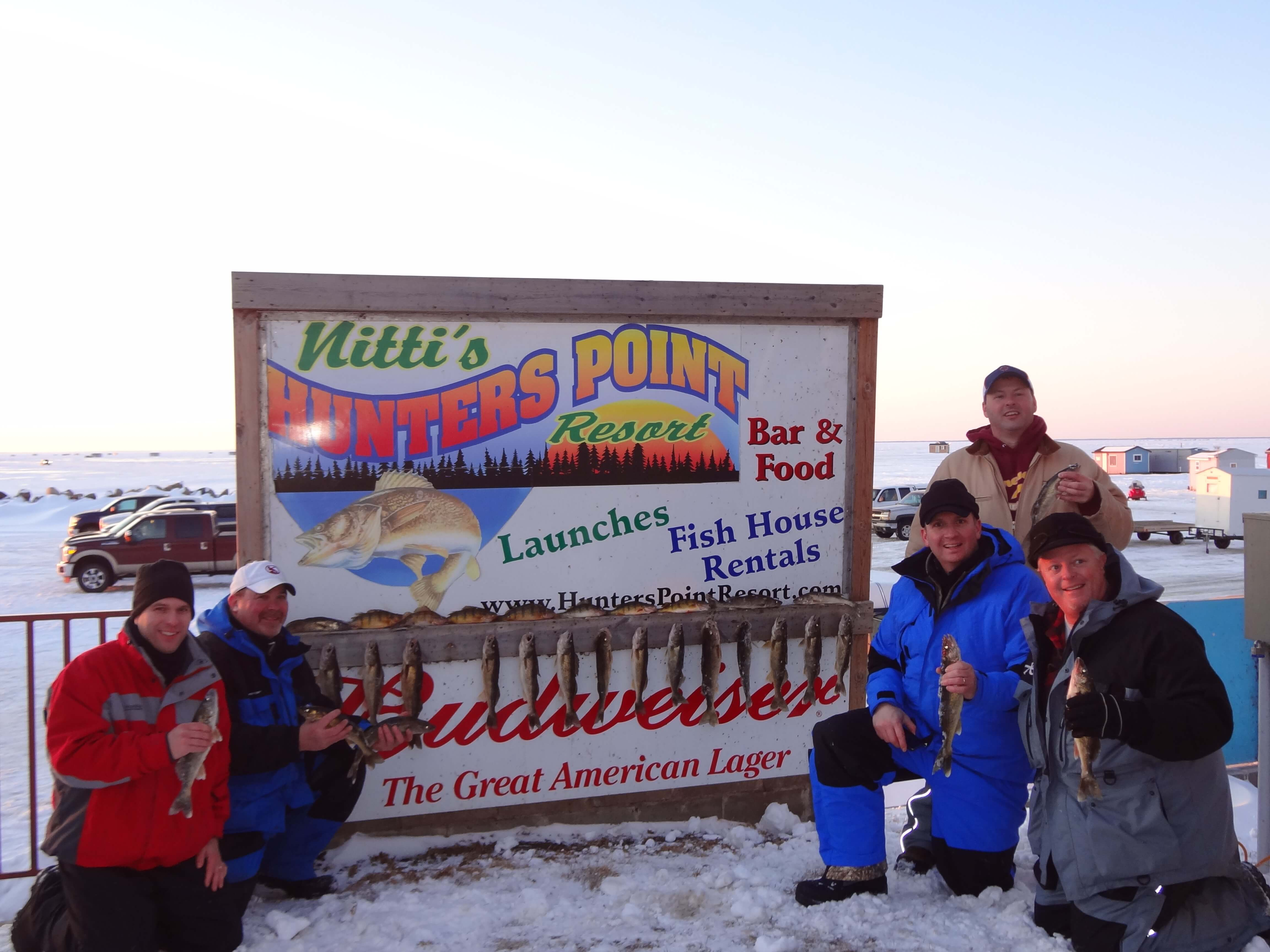 Perch Fishing Event on Mille Lacs Lake at Nitti's Hunters Point Resort