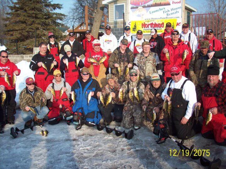 Perch fishing tournament on lake mille lacs