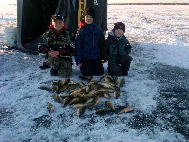 Perch fishing on Lake Mille Lacs