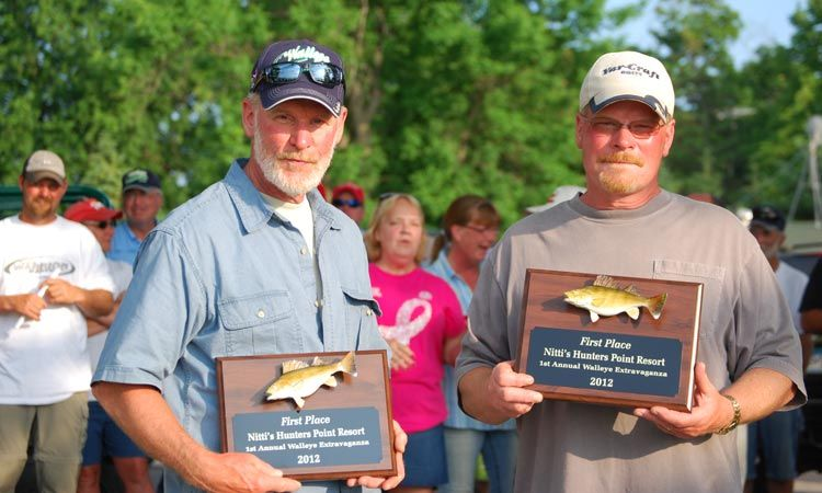 1st annual walleye extravaganza at Nitti's Hunters Point Resort