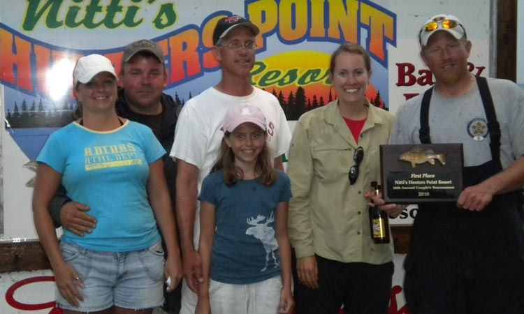 proud fishing tournament winners at hunters point resort