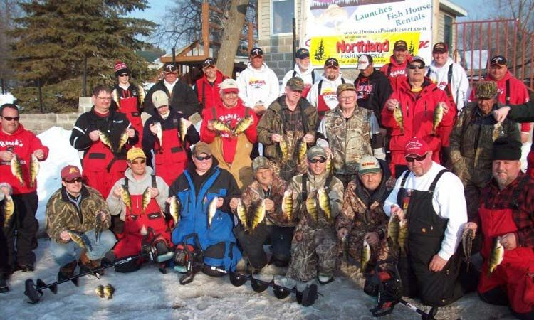 perch fishing event on lake mille lacs