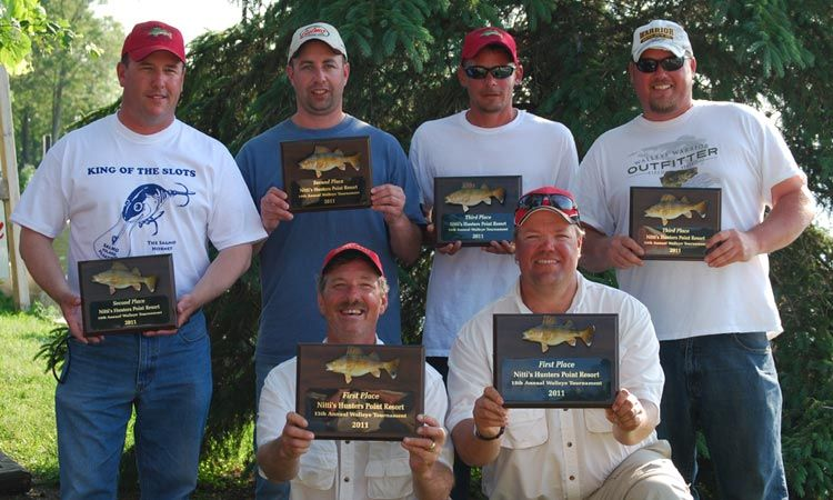 Fishing tournament winners at Nitti's Hunters Point Resort